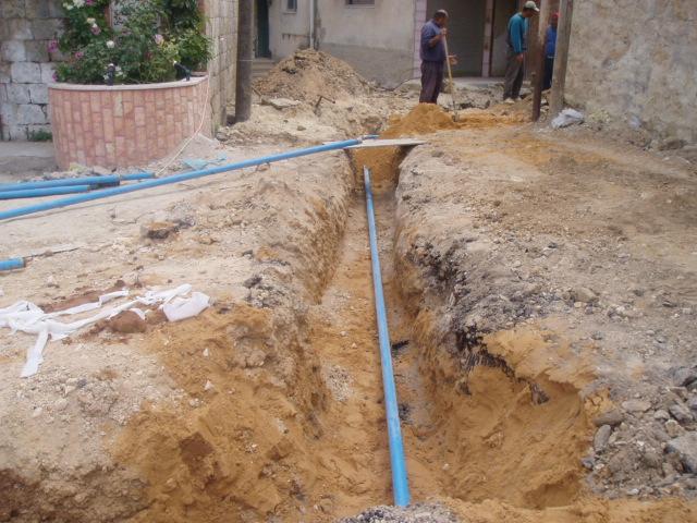 تمديد خطوط مياه داخلية بتمويل من صندوق البلدية بتكلفة 35الف دولار
