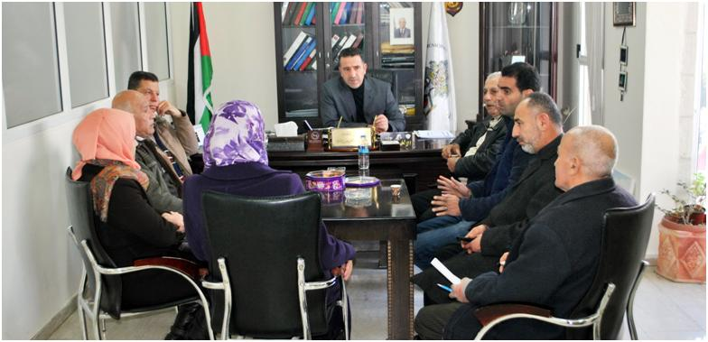 وفد من مديرية عمل سلفيت تقدم التهاني الى رئيس البلدية أ. عبد الكريم زبيدي بمناسبة استلامه مهام رئيس بلدية سلفيت