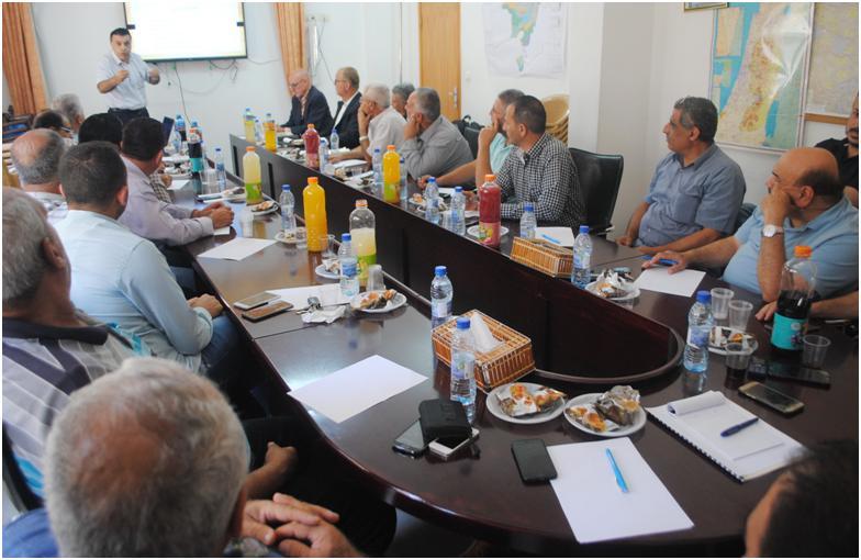 مجلس الخدمات المشترك لمحافظة سلفيت  يعقد الاجتماع الثاني لمشروع انتاج الطاقة من النفايات